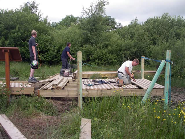 Building the scrapes boardwalk