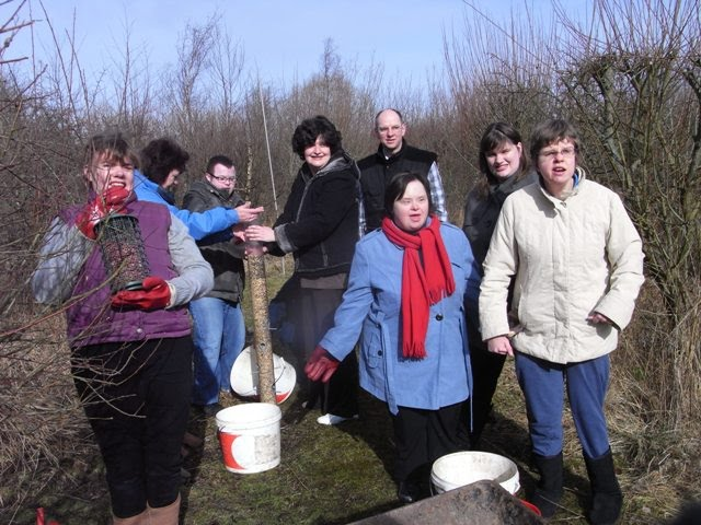 Wendy and the group from the Adult Learning Service