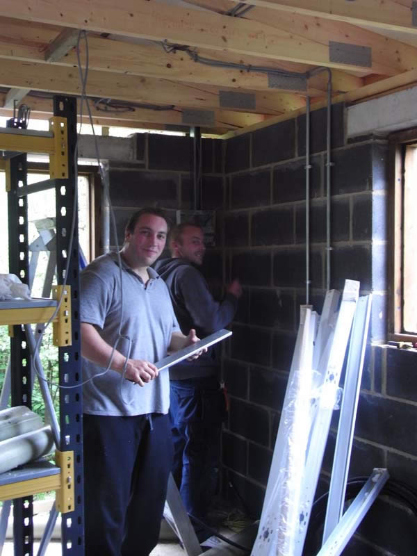 Andy and Jamie, the electricians
