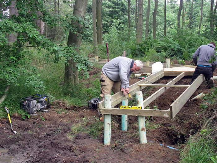 Steve and team installing the bridge