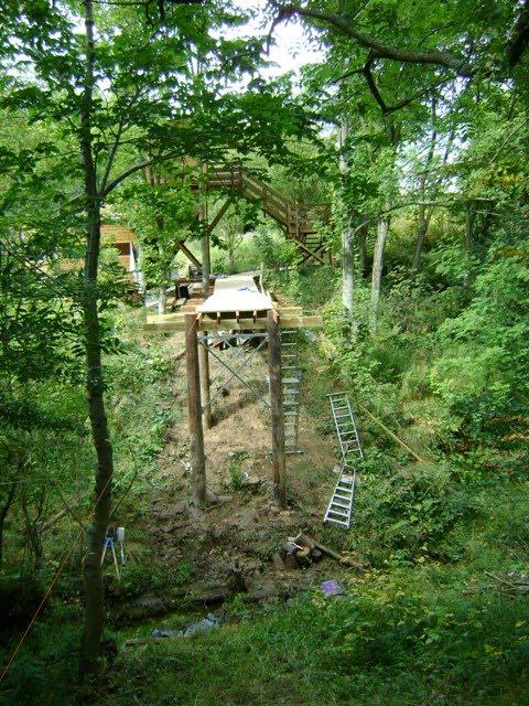 New bridge at Foxglove