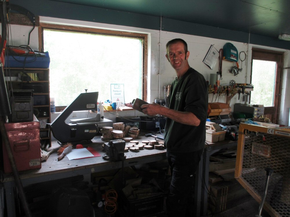 Ian in the workshop