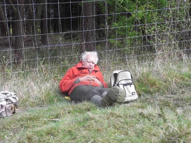 Volunteer resting