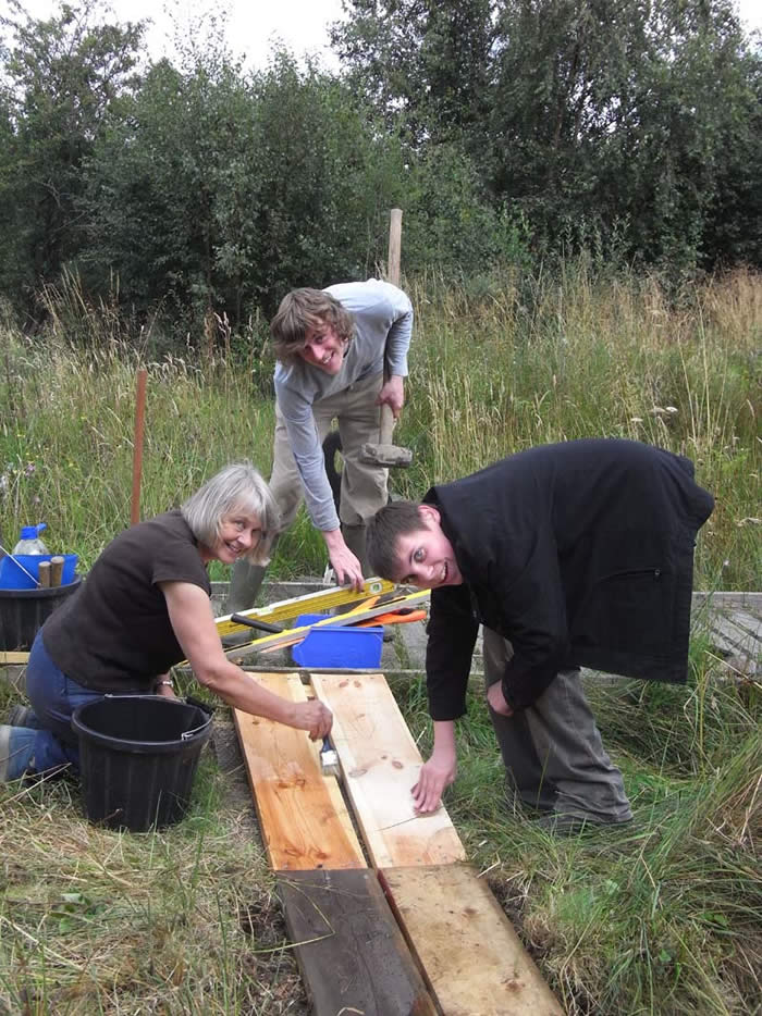 Volunteers working on the reserve