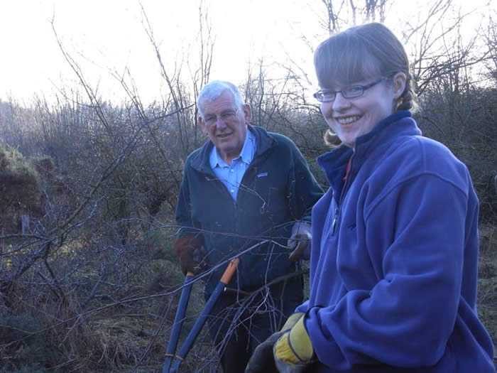 Volunteers Brian and Jenny working