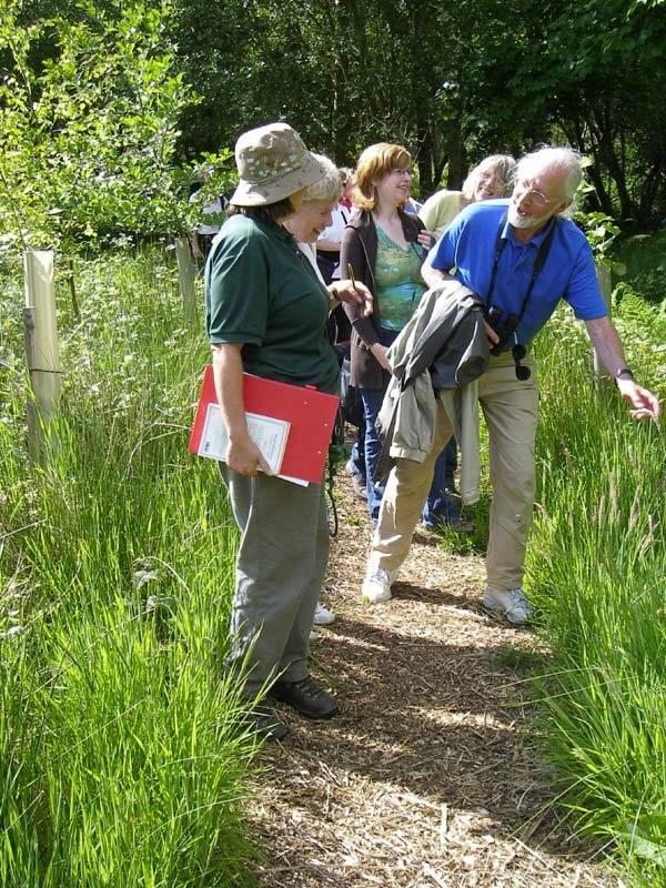 Wildflower walk group