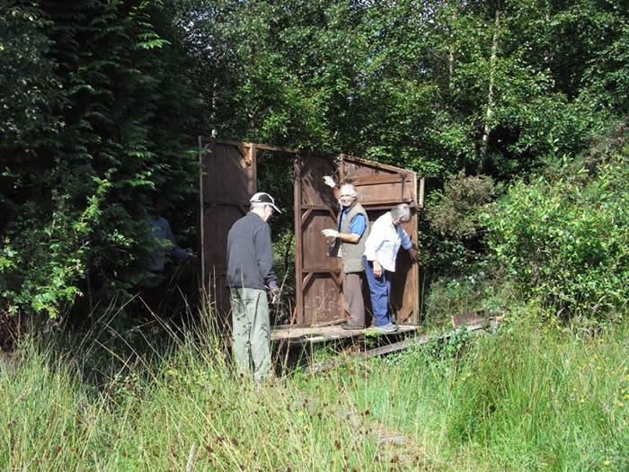 John, Colin and Val taking down the old bird hide