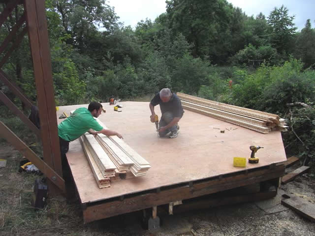 Work on the hide