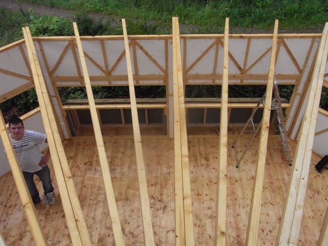 Hide roof timbers
