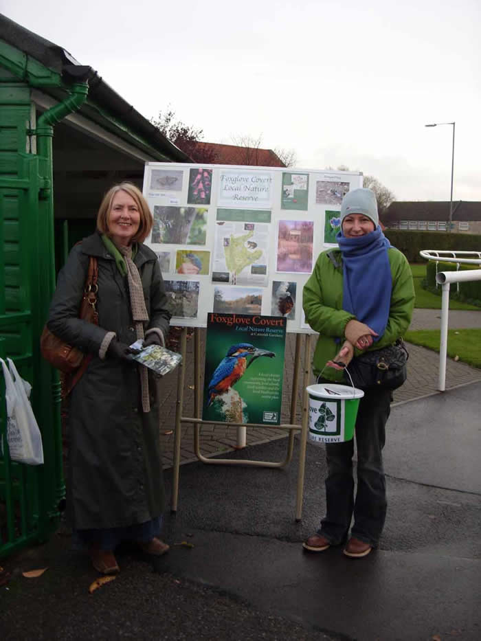 Bev and Beryl at the Foxglove stall