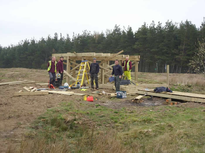 Construction of the hide