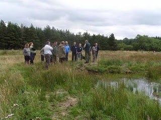 Attendees of the pond creation training day