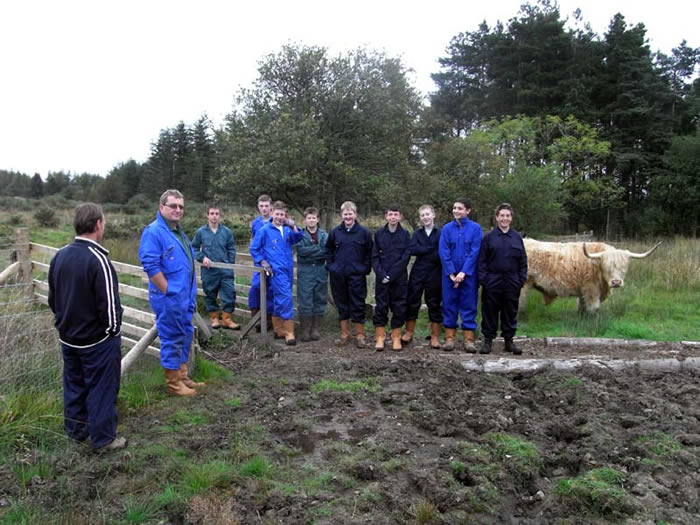 Askham Bryan students meet the cattle