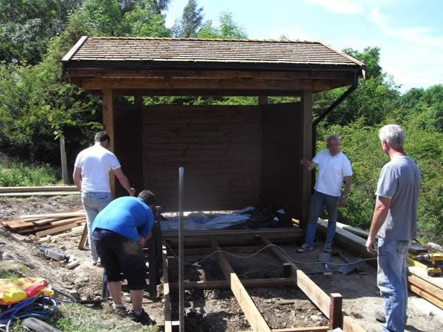 Building the welcome shelter