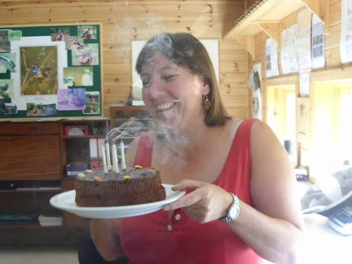 Marion with her birthday cake