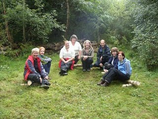 Forest School training course attendees