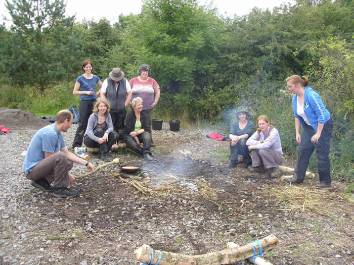 Trainees on the Forest School course