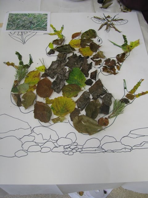 Leaf artwork at the Eco-Club