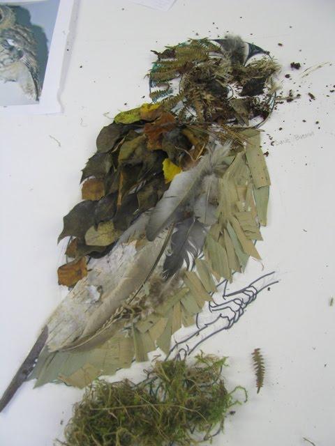 Leaf artwork at the Eco-Club