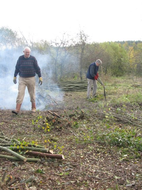 Tony & Mike working on the Willow Coppice