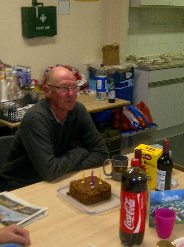 John and his birthday cake