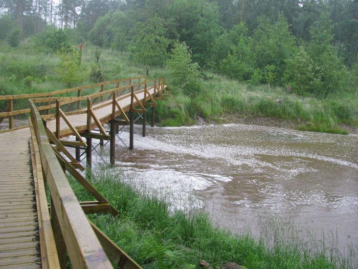 Flow of water under the bridge