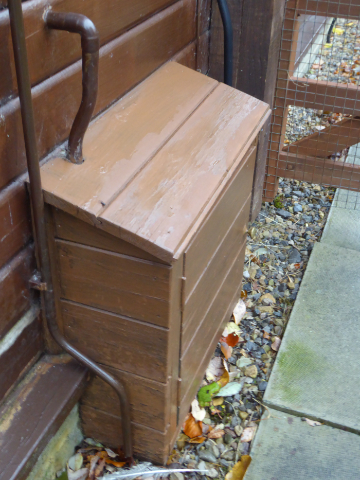 Box for pipe work - rabbit hutch?