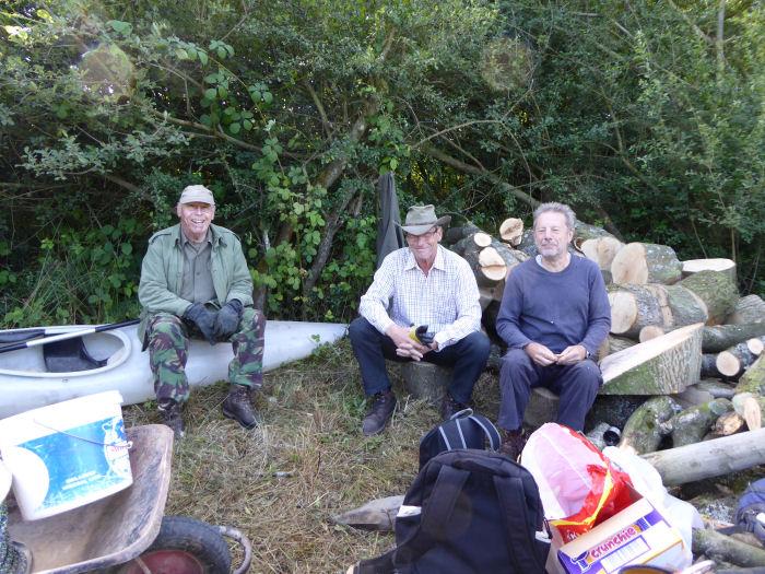 Resting volunteers