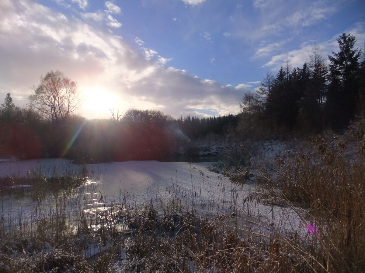 Sunshine on the frozen lake