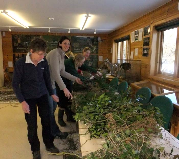 Making willow wreaths