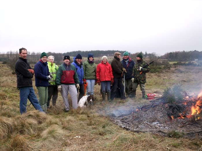 Volunteers on the moor