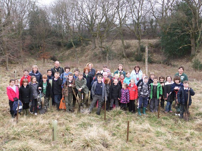 Children taking part in Eco Week