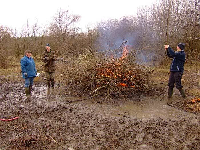 muddy bonfire