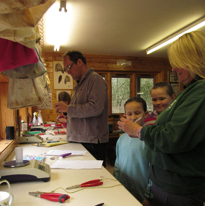 the ringing room and young visitors