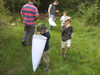 Children's group at Foxglove Covert